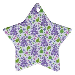 liliac flowers and leaves Pattern Ornament (Star)