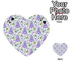 liliac flowers and leaves Pattern Playing Cards 54 (Heart)