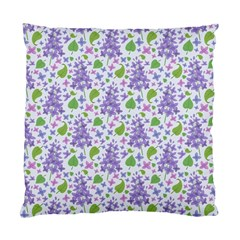 liliac flowers and leaves Pattern Standard Cushion Case (Two Sides)