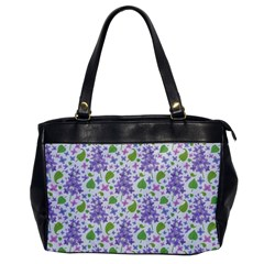 liliac flowers and leaves Pattern Office Handbags