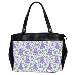 liliac flowers and leaves Pattern Office Handbags (2 Sides)