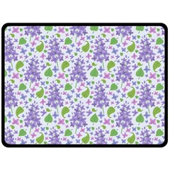 liliac flowers and leaves Pattern Fleece Blanket (Large)
