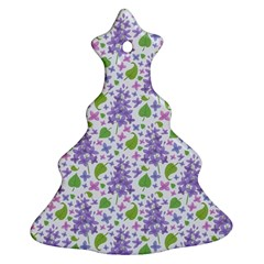 liliac flowers and leaves Pattern Ornament (Christmas Tree)