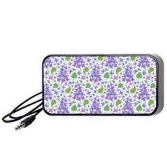 liliac flowers and leaves Pattern Portable Speaker (Black)