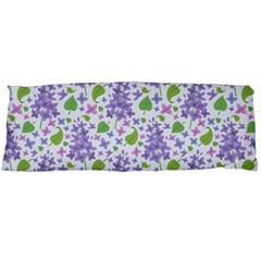 liliac flowers and leaves Pattern Body Pillow Case (Dakimakura)