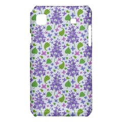 liliac flowers and leaves Pattern Samsung Galaxy S i9008 Hardshell Case