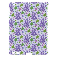liliac flowers and leaves Pattern Apple iPad 3/4 Hardshell Case (Compatible with Smart Cover)