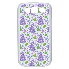 liliac flowers and leaves Pattern Samsung Galaxy S III Case (White)