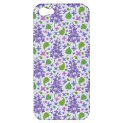 liliac flowers and leaves Pattern Apple iPhone 5 Hardshell Case