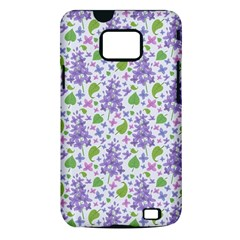 liliac flowers and leaves Pattern Samsung Galaxy S II i9100 Hardshell Case (PC+Silicone)