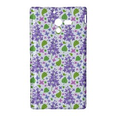 liliac flowers and leaves Pattern Sony Xperia ZL (L35H)