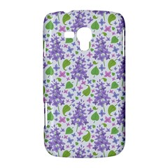 liliac flowers and leaves Pattern Samsung Galaxy Duos I8262 Hardshell Case