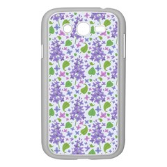 liliac flowers and leaves Pattern Samsung Galaxy Grand DUOS I9082 Case (White)