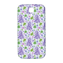 liliac flowers and leaves Pattern Samsung Galaxy S4 I9500/I9505  Hardshell Back Case