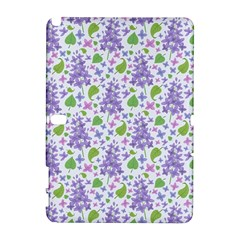 liliac flowers and leaves Pattern Samsung Galaxy Note 10.1 (P600) Hardshell Case