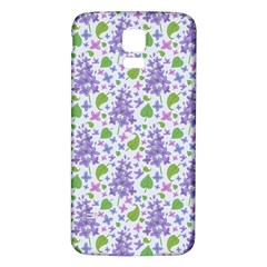 liliac flowers and leaves Pattern Samsung Galaxy S5 Back Case (White)