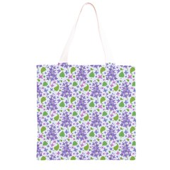 liliac flowers and leaves Pattern Grocery Light Tote Bag