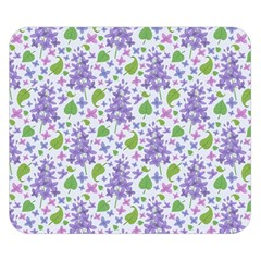 liliac flowers and leaves Pattern Double Sided Flano Blanket (Small)