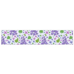 liliac flowers and leaves Pattern Flano Scarf (Small)