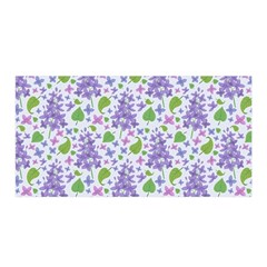liliac flowers and leaves Pattern Satin Wrap