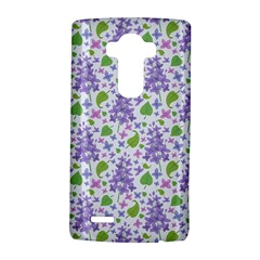 liliac flowers and leaves Pattern LG G4 Hardshell Case