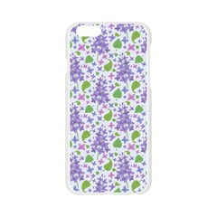 liliac flowers and leaves Pattern Apple Seamless iPhone 6/6S Case (Transparent)