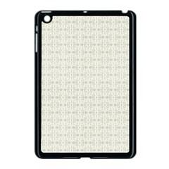 Vintage Floral Ornament Pattern Apple iPad Mini Case (Black)