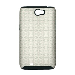 Vintage Floral Ornament Pattern Samsung Galaxy Note 2 Hardshell Case (PC+Silicone)