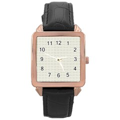 Vintage Floral Ornament Pattern Rose Gold Leather Watch