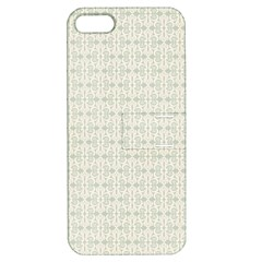 Vintage Floral Ornament Pattern Apple iPhone 5 Hardshell Case with Stand