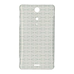 Vintage Floral Ornament Pattern Sony Xperia TX