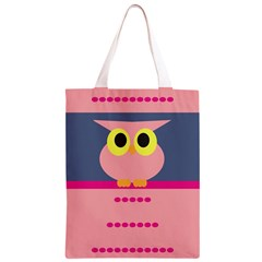 Cute Whimsical Pink Owl Classic Light Tote Bag