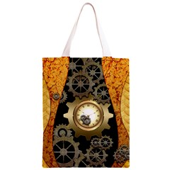 Steampunk Golden Design With Clocks And Gears Classic Light Tote Bag
