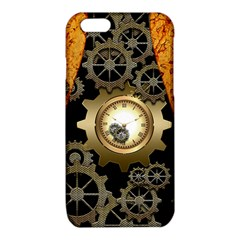Steampunk Golden Design With Clocks And Gears iPhone 6/6S TPU Case