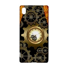 Steampunk Golden Design With Clocks And Gears Sony Xperia Z3+