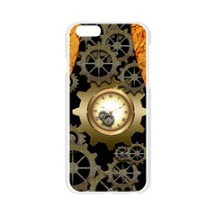 Steampunk Golden Design With Clocks And Gears Apple Seamless iPhone 6/6S Case (Transparent)
