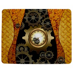 Steampunk Golden Design With Clocks And Gears Jigsaw Puzzle Photo Stand (Rectangular)