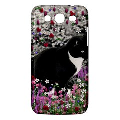 Freckles In Flowers Ii, Black White Tux Cat Samsung Galaxy Mega 5 8 I9152 Hardshell Case