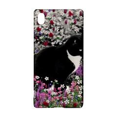 Freckles In Flowers Ii, Black White Tux Cat Sony Xperia Z3+