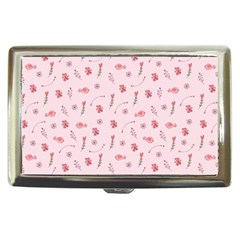 Cute Pink Birds And Flowers Pattern Cigarette Money Cases