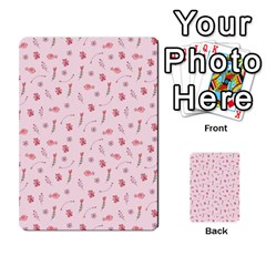 Cute Pink Birds And Flowers Pattern Multi-purpose Cards (Rectangle)