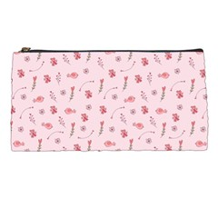 Cute Pink Birds And Flowers Pattern Pencil Cases