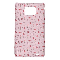 Cute Pink Birds And Flowers Pattern Samsung Galaxy S2 i9100 Hardshell Case