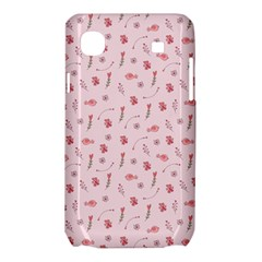 Cute Pink Birds And Flowers Pattern Samsung Galaxy SL i9003 Hardshell Case