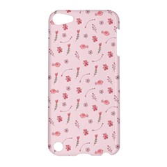Cute Pink Birds And Flowers Pattern Apple iPod Touch 5 Hardshell Case