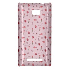 Cute Pink Birds And Flowers Pattern HTC 8X