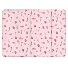 Cute Pink Birds And Flowers Pattern Samsung Galaxy Tab 7  P1000 Flip Case