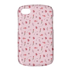 Cute Pink Birds And Flowers Pattern BlackBerry Q10