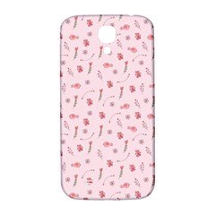 Cute Pink Birds And Flowers Pattern Samsung Galaxy S4 I9500/I9505  Hardshell Back Case