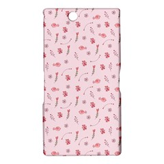 Cute Pink Birds And Flowers Pattern Sony Xperia Z Ultra